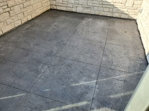 a newly cement flooring