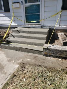 a concrete outdoor stairs