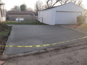 an under construction of driveway