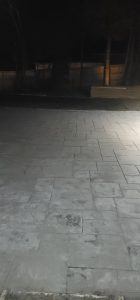 a stamped concrete way